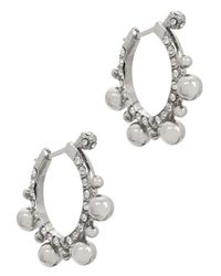 Ca&Lou | Metallic Amara Silver-plated Hoop Earrings | Lyst