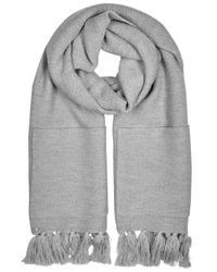 Eileen Fisher | Gray Grey Pocketed Merino Wool Scarf | Lyst