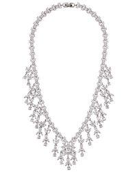 Fallon | Metallic Monarch Silver Tone Necklace | Lyst