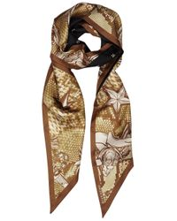 Givenchy | Brown Mini Lily Snake Printed Silk Scarf | Lyst