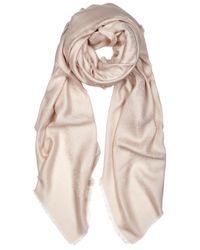 Givenchy | Pink Bandana Wool And Silk Blend Jacquard Scarf | Lyst
