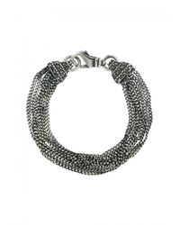 Emanuele Bicocchi | Metallic Sterling Silver Multi-chain Bracelet | Lyst