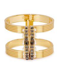 Ca&Lou | Metallic Taia 24kt Gold-plated Cuff | Lyst