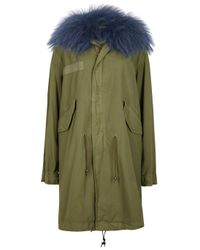 Mr & Mrs Italy | Army Green Fur-trimmed Cotton Parka | Lyst
