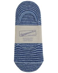 Anonymous Ism   Blue Striped Low-cut Socks for Men   Lyst