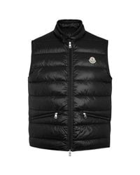 Moncler - Black Gui Quilted Shell Gilet - Size 6 for Men - Lyst