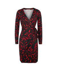 Diane von Furstenberg - Red Julian Printed Silk Wrap Dress - Lyst