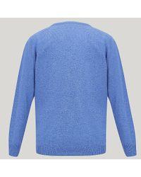 Harvie and Hudson - Blue Sky 100% Lambswool V-neck Sweater for Men - Lyst