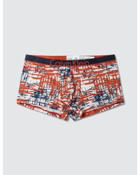 Calvin Klein - Orange Calvin Klein Id Micro Low Rise Trunk for Men - Lyst