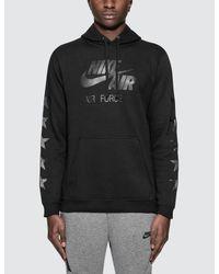Nike Black Nsw Club Fleece Af1 Hoodie for men
