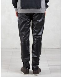 Factotum - Multicolor Knee Patch Slim Leather Pants for Men - Lyst