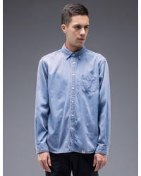 """Bedwin And The Heartbreakers - Multicolor """"wyatt"""" L/s Button Down Denim Shirt for Men - Lyst"""