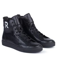 Raf Simons Black Sneakers With Contrast R Logo for men