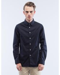Saturdays NYC - Brown Solid Reed L/s Shirt for Men - Lyst