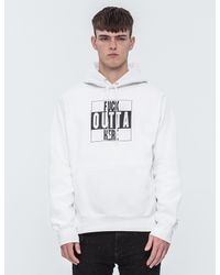 AfterMidnight NYC | White Fuck Out Of Here Hoodie for Men | Lyst