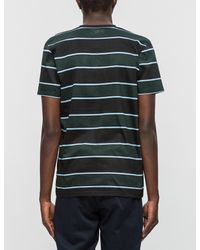 AMI - Multicolor Club Stripes Chest Pocket S/s T-shirt for Men - Lyst
