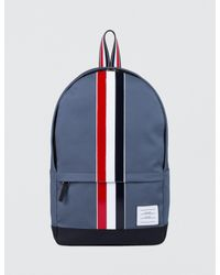 Thom Browne | Blue Mackintosh Backpack With Rwb Leather Stripe for Men | Lyst