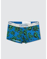 CALVIN KLEIN 205W39NYC - Blue Florals Low Rise Trunk for Men - Lyst