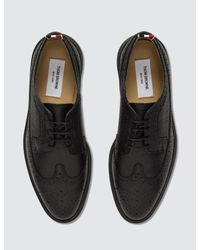 Thom Browne - Black 'longwing' Lace Up Shoes for Men - Lyst