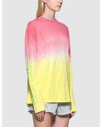 MSGM - Pink Tie&dye L/s T-shirt - Lyst
