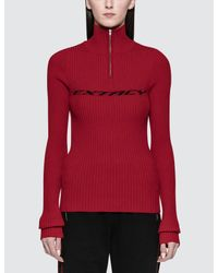 M I S B H V - Red Extacy Half-zip Sweatshirt - Lyst