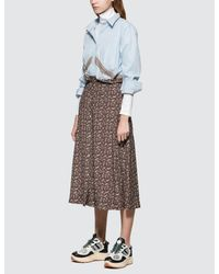 Maison Kitsuné - Multicolor All-over Flower Paige Long Skirt - Lyst