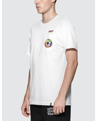 Huf - White Amfm Pocket T-shirt for Men - Lyst