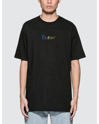 Butter Goods - Black Web Embroidery Classic Logo S/s T-shirt for Men - Lyst