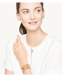 Henri Bendel - Metallic Pave Petal Cutout Bangle - Lyst