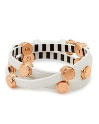 Henri Bendel - White Carlyle Triple Wrap Bracelet - Lyst