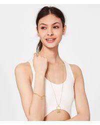 Henri Bendel - Metallic Palm Tree Cuff Chain Bracelet - Lyst
