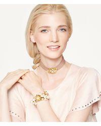 Henri Bendel - Pink Flora Pearl Bracelet - Lyst