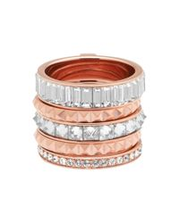 Henri Bendel - Pink Chrysler Puzzle Ring - Lyst