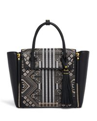 Henri Bendel | Black Chrystie Embroidered Satchel | Lyst