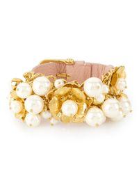 Henri Bendel | Pink Flora Pearl Bracelet | Lyst