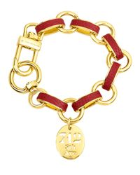 Henri Bendel - Multicolor Carlyle Leather Wrapped Charm Bracelet - Lyst