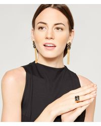 Henri Bendel | Metallic Gem Tassel Chandelier Earring | Lyst
