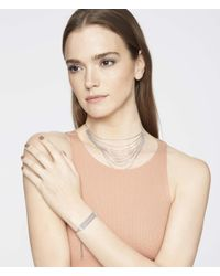 Henri Bendel - Metallic Luxe Bali Fine Lines Slider Bracelet - Lyst