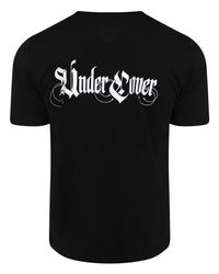 Undercover Black Contrast Script Logo T-shirt for men
