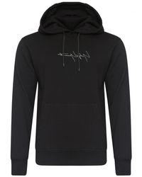 Yohji Yamamoto | New Era Logo Hoodie Black for Men | Lyst