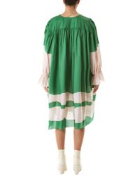 Vika Gazinskaya - Green Draped Ruched Dress - Lyst