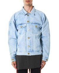 Fear Of God | Blue Selvedge Denim Trucker Jacket for Men | Lyst