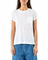 Sacai | Blue Pleated Back Pocket Tee | Lyst