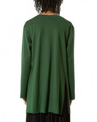 BED j.w. FORD | Green Asymmetric Long-sleeve Tee | Lyst
