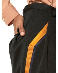 BED j.w. FORD - Black Embroidered Stripe Trouser for Men - Lyst