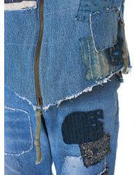 Greg Lauren - Blue Vintage Denim Flight Vest - Lyst