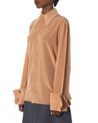 Awake - Natural Flared Cuff Shirt - Lyst