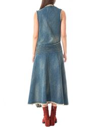 Junya Watanabe - Blue Distressed Denim Dress - Lyst