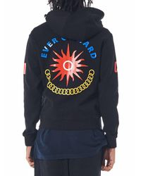 Sankuanz - Blue Knit Graphic Print Hoodie for Men - Lyst