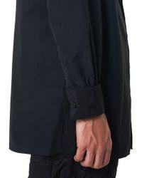 Yohji Yamamoto - Black Split-hem Shirt for Men - Lyst